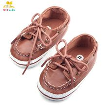 Spring and Autumn High Quality Solid Design Cross tied PU Sole Cool Baby Casual Shoes Sneakers