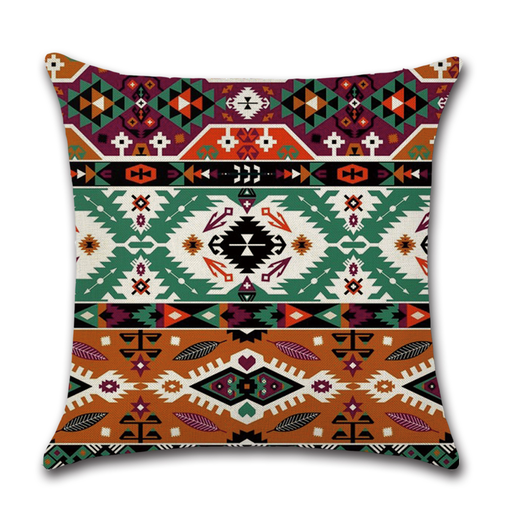 1Pc Mandala Pattern Cushion Cover Bohemian Style Geometric Decorative Pillowcase Sofa Car Home Office Throw Pillow Case in Cushion Cover from Home Garden