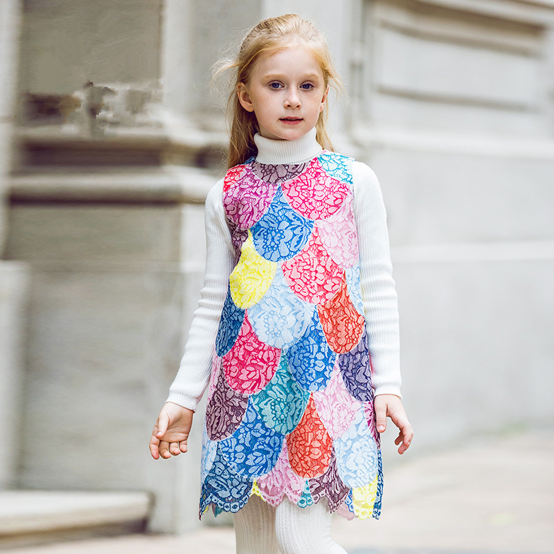 Girls Summer Dresses with  Print 2017 Brand Toddler Dress Children Princess Costume Robe Fille Kids Clothes