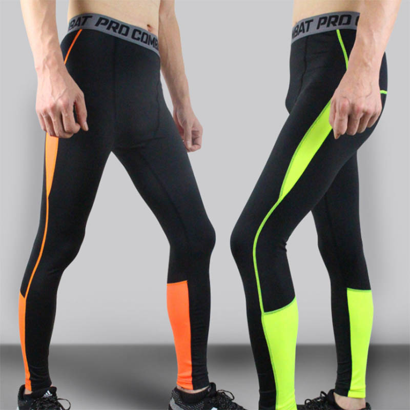 Mens Boy Leggings Fitness Pants High Elastic Quick-drying Breathable Trousers US