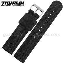 18   20   22mm importados de alta qualidade da lona relógio pulseira com fivela de moda frete grátis