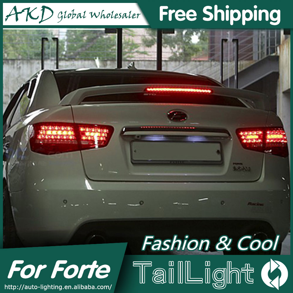 AKD Car Styling for Kia Forte Tail Lights 2010-2013 Cerato LED Tail Light Forte Rear Lamp DRL+Brake+Park+Signal