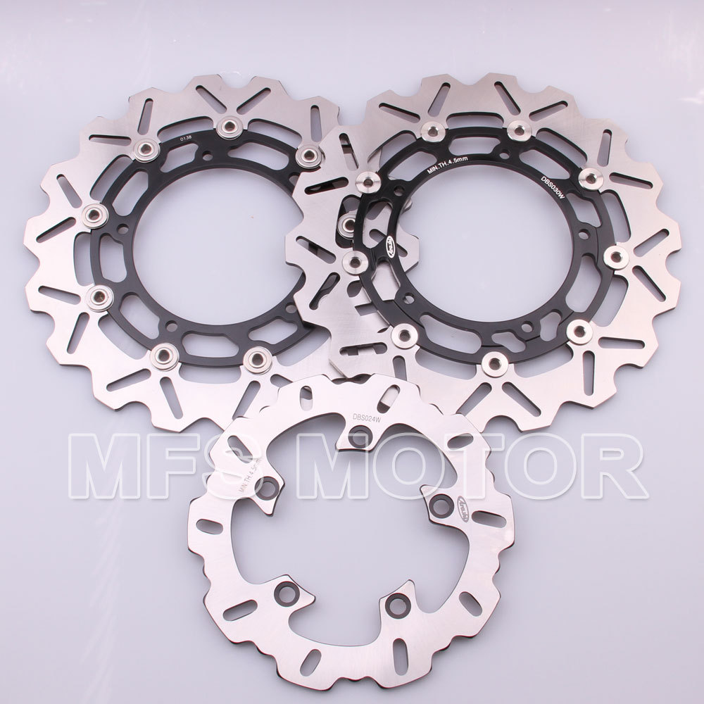 Motorcycle Part Front Rear Brake Discs Rotor For Yamaha YZF R6 2003 2004 2005 YZFR6 03