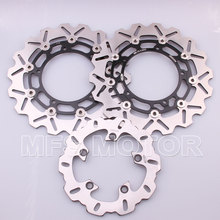 Motorcycle Part Front Rear Brake Discs Rotor For Yamaha YZF R6 2003 2004 2005 YZFR6 03 04 05 Black