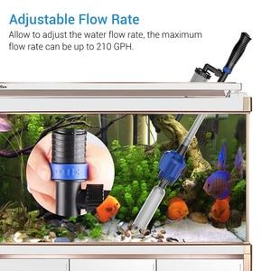 Image 3 - Nicrew filtro de água para aquário, arruela de aquário elétrica, acessórios de sifão para limpeza de tanque de peixes