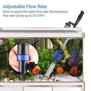 Image 3 - Nicrew сифон для аквариумов, аксессуары для электрического аквариума, очиститель гравия, фильтр для воды, шайба для аквариума, инструменты для аквариума