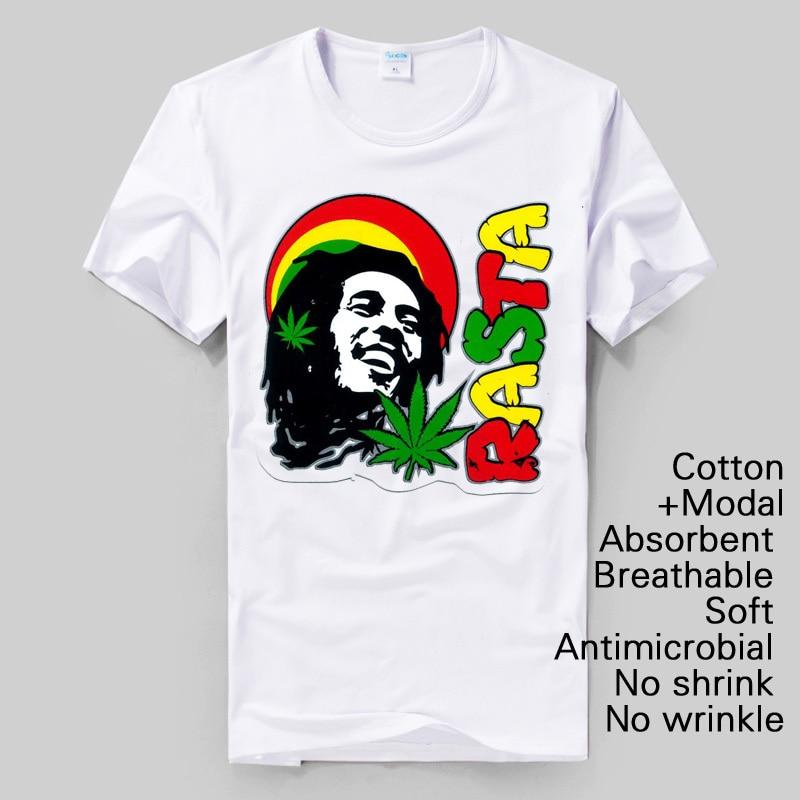 songs of freedom Bob Marley street style rock fans reggae fashion 2014 summer new original design high quality modal cotton