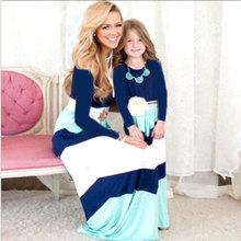 Mother Daughter Dresses Summer Fashion Strapless Backless Long Dress Family Matching Clothes Mommy and Me clothes