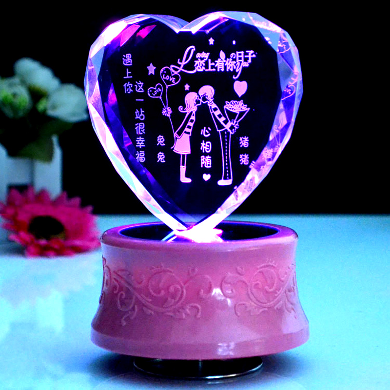 2013 Free Shipping Christmas Gift Crystal Music Box Birthday Girls Boys Valentine Present In Boxes From Home Garden On