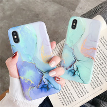 Colorful Slim thin Mobile phone Marble cover fundas For Apple iPhone X XS MAX 8 7 plus 6 6s XR marble cases