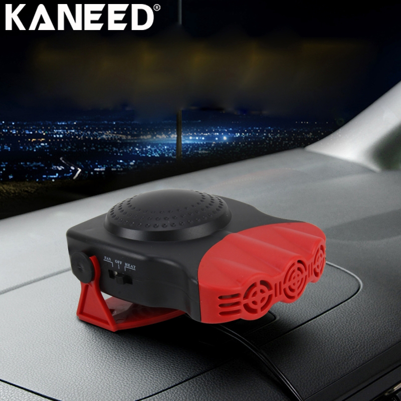 KANEED Electric Car Heater Defroster 150W Cold and Warm Dual Use Three Outlet Car Vehicle Heating 12V Auto Windshield Defroster