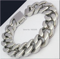 "2015 Fashion Gifts Men's Wide Heavy 155g Cuban Curb Chain Pure Stainless Steel Bracelet 8.5"" 20mm Toggle Clasp"