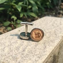 Beer Jugs Laser Engraved Wood Cufflinks Oktoberfest Wooden Cuff