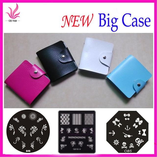 32 slots Nail image plate folder/CASE/ABLUM for dia7.0cm Stamping Art CASE nail discs folder mix nail folder