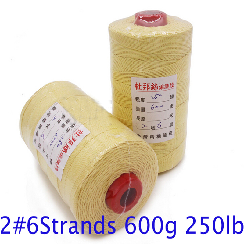 High quality 2# Kevlar 6 strands 250 pounds superior products extra grade traction kite line 800m 650g