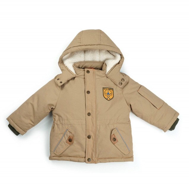 Newly baby boy winter jacket hooded cotton waterproof thickening khaki coat parkas 2 4 6 ...