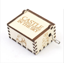 Wooden Hand Crank Music Box Diy Castle In The Sky Wood Music Box White Box Gift Anime Music Box Birthday Gifts трусы music box