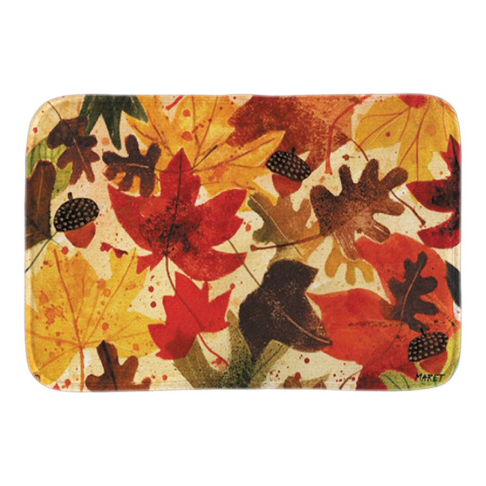 Fallen Leaves Doormat Autumn Landscape Indoor Outdoor Door Mats For Living Room Bedroom Soft Light Short Plush Fabric Floor Mat