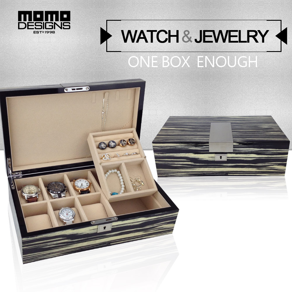 Luxury Wood 6 watch box & Jewellery storage box Wooden watch packaging High quality watch case jewle box display red wooden paint watch box pefect to storage watch case gift for watch lacquer boxes may custom logo factory supply