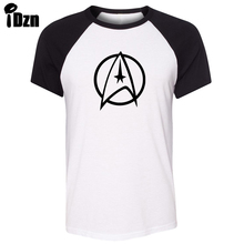 iDzn Unisex Summer T-shirt Science Fiction Film Classics Star Trek Crew Logo Art Pattern Short Sleeve Men T shirt print Tee Tops