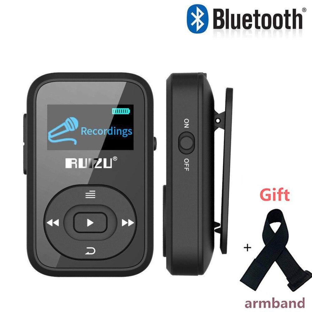RUIZU X26 Mini Sport Clip Bluetooth MP3 Music Player With Voice Recorder FM Radio Supprot SD Card 8GB Ruizx02 Ruizux06 Mp3