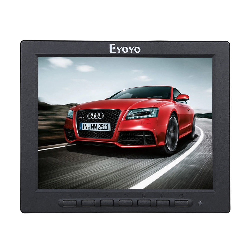 EYOYO 8 Inch TFT LED Video Audio VGA HDMl BNC HD Monitor 4:3 Screen For DVR PC CCTV