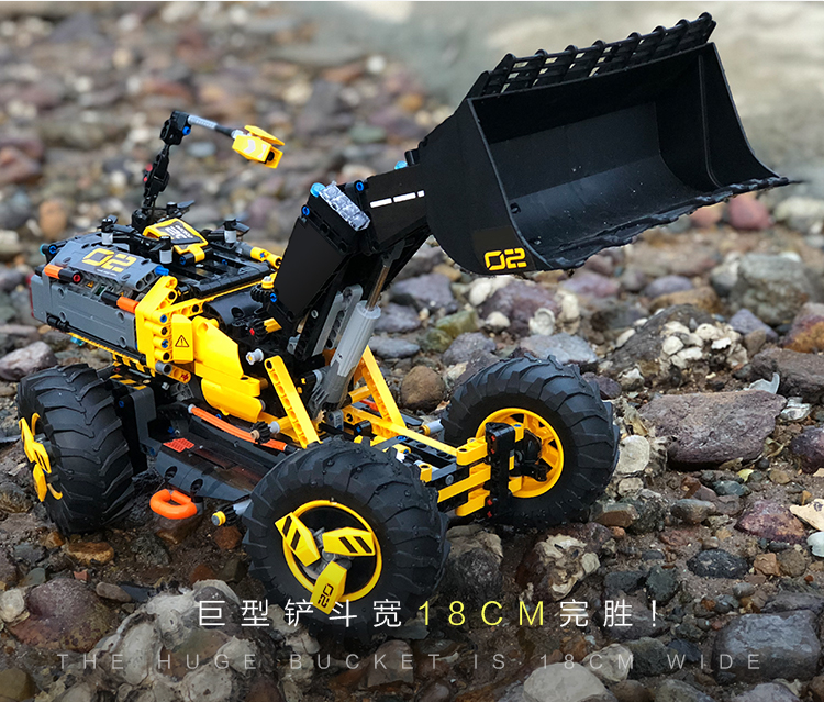 Image 2 - DECOOL TECHNIC 3380 2IN1 Volvo Wheel Loader ZEUX Model Building Blocks Bricks Toys for children GIFTS compatible legoly 42081-in Blocks from Toys & Hobbies