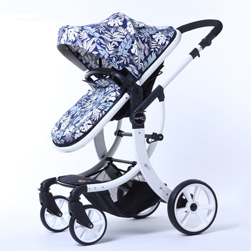 2018 New EU Stroller Mark baby Europe Stroller 2 in 1 High Landscape three-dimensional four round carts golden frame 9 Colors russian wholesale new luxury baby stroller 3 in 1 high landscape three dimensional four round baby stroller carts strollers