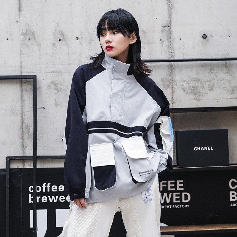 Hauts pullover 2019 Nouveau Rétro Lâche Coréenne Hoodies à manches longues Col Haut Bf Femmes Sweatershirts Marque Harajuku vêtements à capuche
