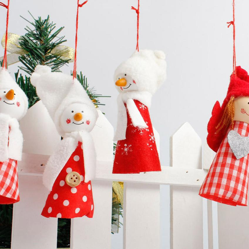 Christmas Ornament Angels From Office Supplies: Christmas Tree Decoration Snowman Angel Ornament Holiday