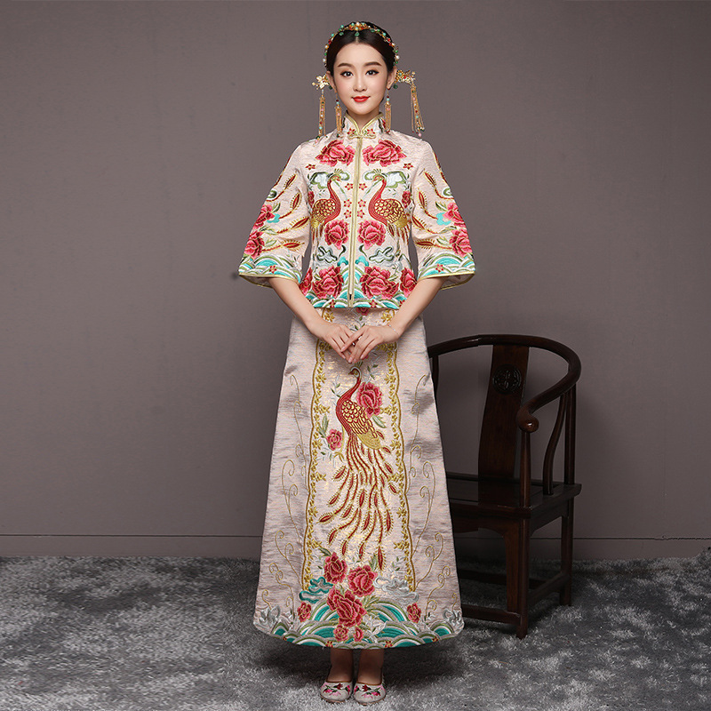 Bride Oriental Wedding Gowns Modern Chinese Traditional