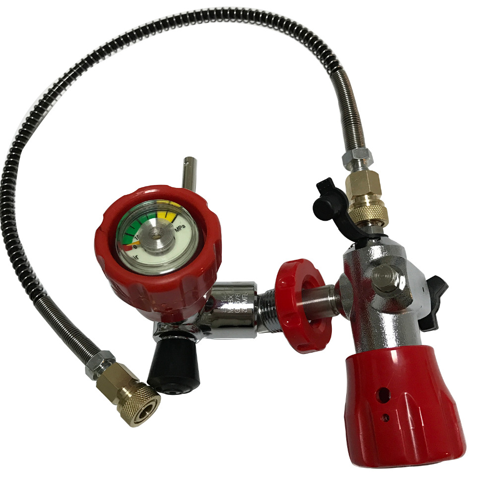AC101 Paintball Tank M18*1.5 Use Red Air Valve With HP 4500PSI Filling Station For Scuba Tank Carbon Fiber Drop Shipping Acecare