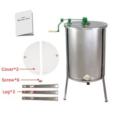 Brand New Large 4 Frame Stainless Steel  Manual Honey Extractor