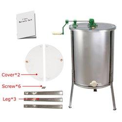 Tout nouveau grand extracteur de miel manuel en acier inoxydable à 4 cadres
