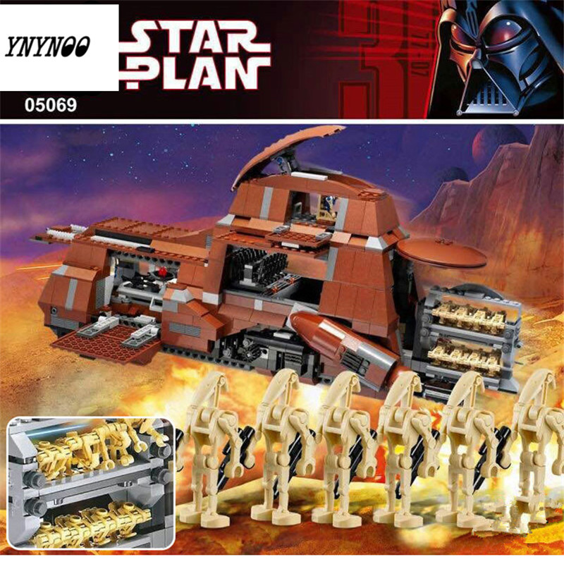 YNYNOO New Star War The Federation Transportation Tank MTT 1338pcs Lepin 05069 Building Blocks Bricks Toys Model Compatible 7662 herbert george wells the war of the worlds