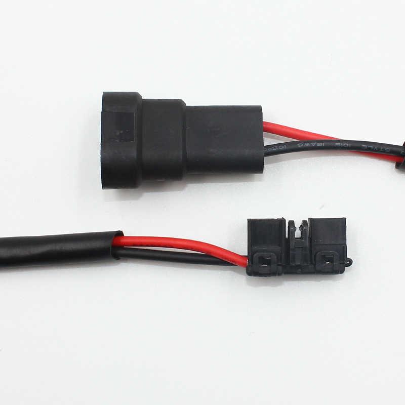 2x Denso Koito Xenon HID D4S D4R Ballast Power Wire harness 12V Input Cable Plug