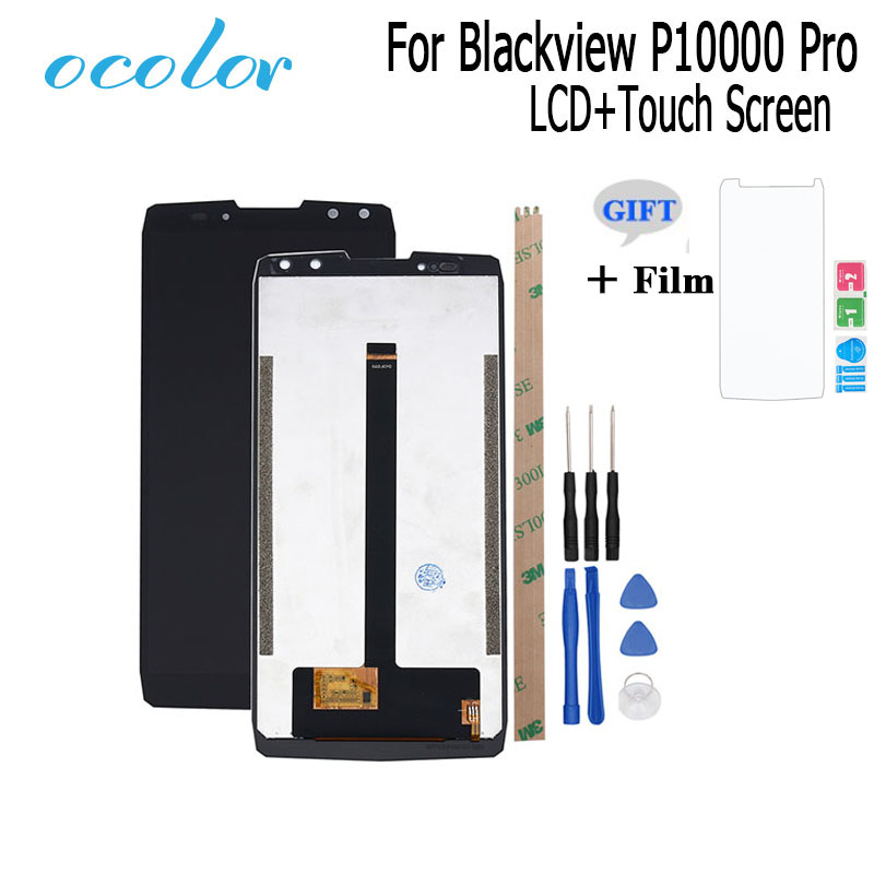 ocolor For Blackview P10000 Pro LCD Display and Touch Screen Digitizer Assembly Replacement Tool Film For