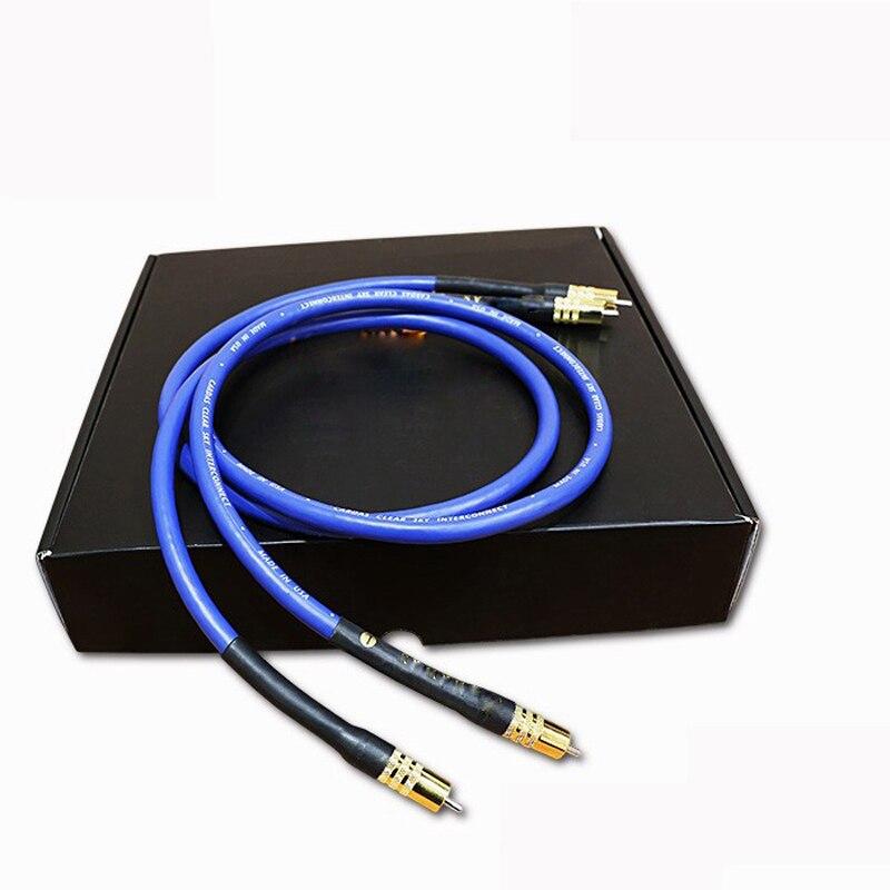 Câble d'interconnexion de lumière claire cardas pour amplificateur de lecture CD câble audio rca avec prise RCA plaquée or