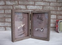 Vintage Wood Picture Frame Home Cinderalla Series 2 Boxes Wooden Photo Frame Display Family Wedding Casamento