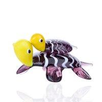 H & D śliczny żółw morski pływanie z dzieckiem kolekcjonerska figurka statua ze szkła Murano dmuchane grafiki zwierząt przycisk do papieru prezent wystrój domu w Figurki i miniatury od Dom i ogród na