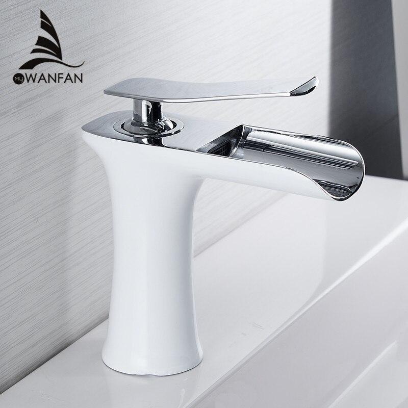 Bassin robinets cascade salle de bain robinet mitigeur lavabo robinet bain Antique robinet en laiton évier eau grue argent 6009