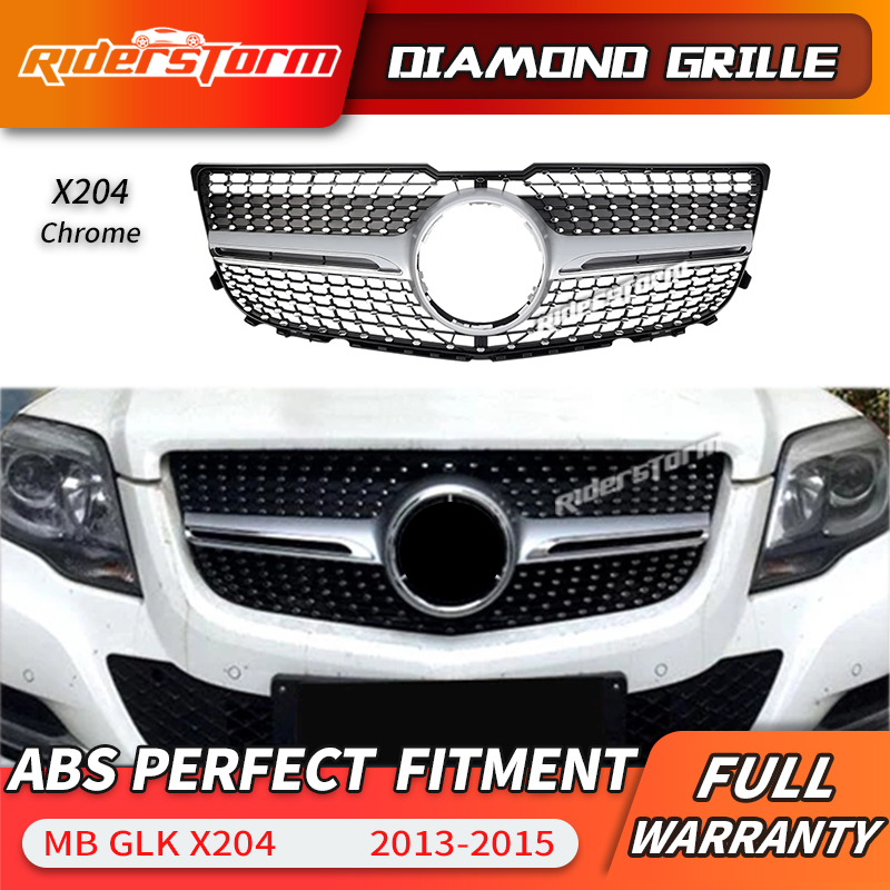 Pour Grille de calandre diamant GLK X204 pour calandre de classe GLK 2013-2015 SUV GLK250 GLK300 GLK350