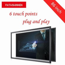 86 inch USB 6 touch points IR Touch Frame without glass for Touch Screen Displays Support Windows/Android/Mac/Linux цена