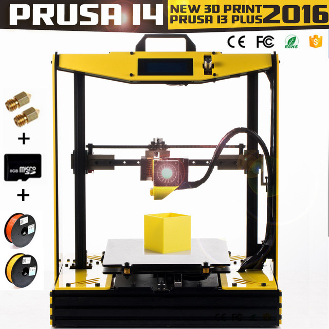 2016 High Precision Semi-Assembled impresora 3D Printer Reprap Aluminium Frame Big Machine PLA/ABS Prusa i4 DIY Kit mk8 extruder