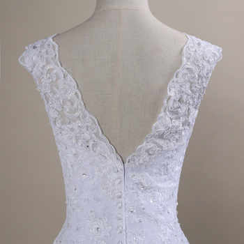 QQ Lover 2020 New Lace Mermaid Wedding Dresses Plus Size Bridal Alibaba Cheap Vestido De Noiva