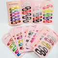 30 Pcs/ Set Mini Small 3cm Printing Candy Color Cartoon Baby girls' Hair grips BB Clips Kids Hairpin Accessories