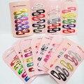 30 Unids/set Mini Pequeño 3 cm Impresión de Dibujos Animados de Color Caramelo pinzas Para El Cabello de los bebés BB Clips Niños Accesorios Horquilla
