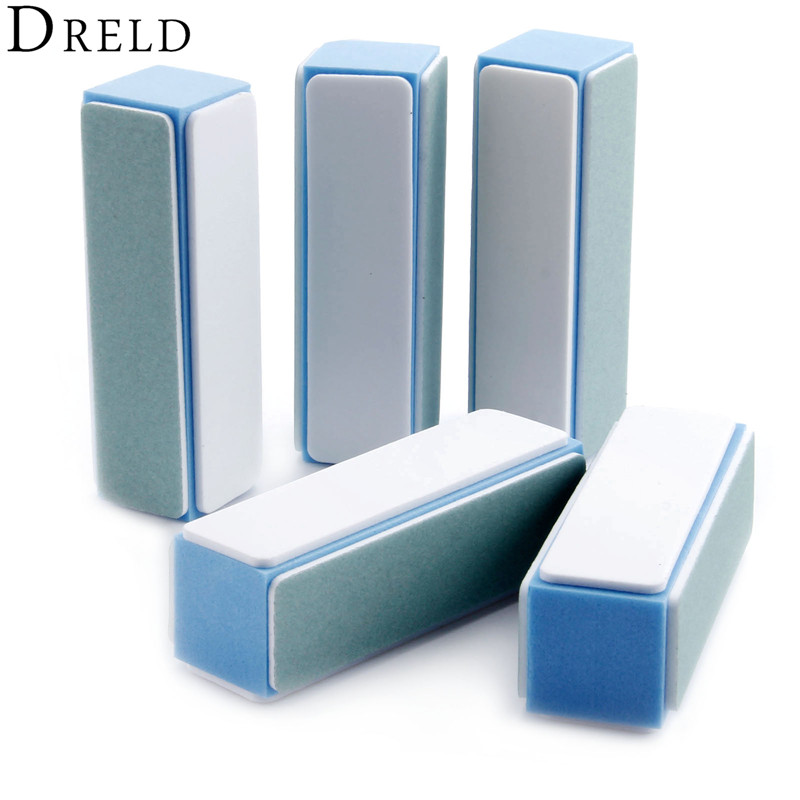 DRELD 5Pcs/lot Sanding Polishing Buffers 4 Way Buffer Polishing Block Grit 1000 7000