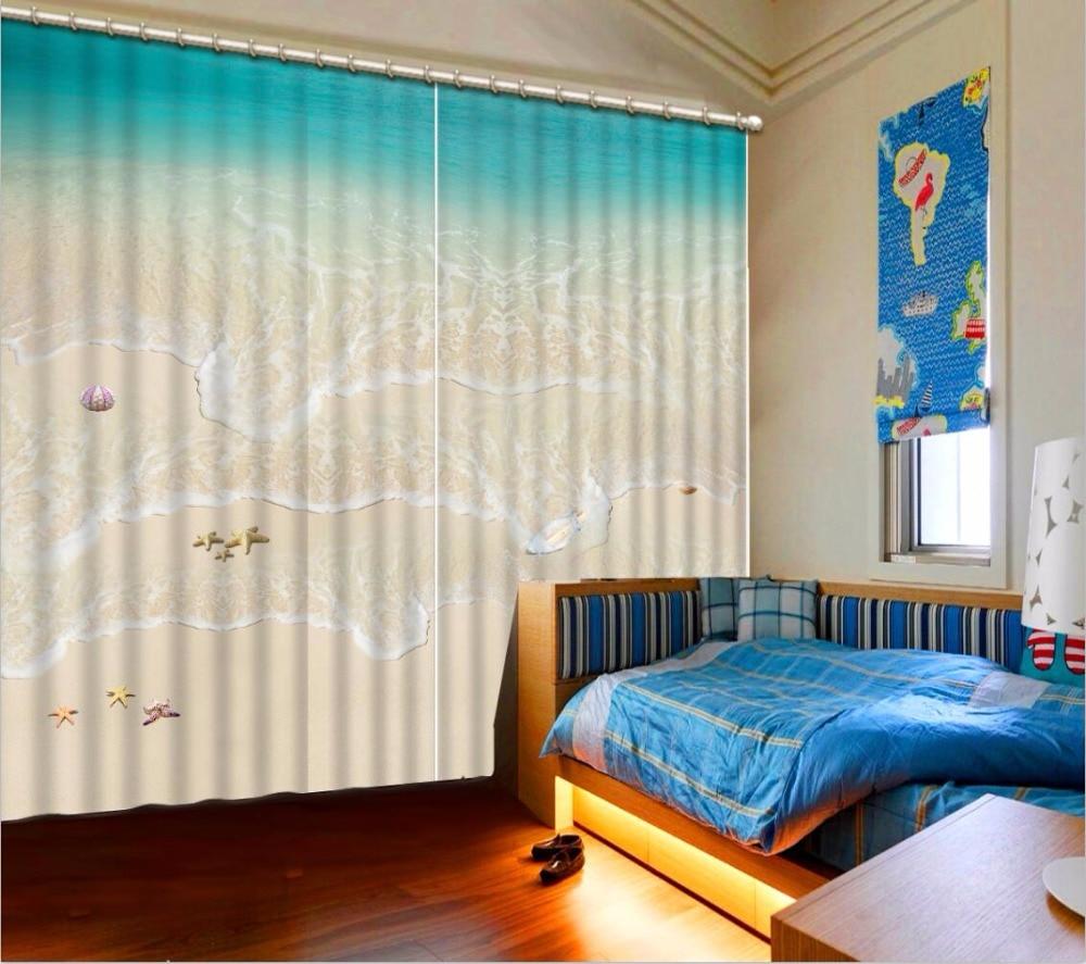 Cool Wave Beach Sheer Curtains