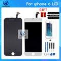 100% pixel no muertos aaa calidad lcd para iphone 6 reemplazo de la pantalla táctil con digitalizador asamblea blanco y negro